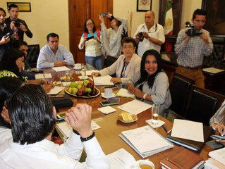 La Dip. Wilma Zavala asiste a reunión de la Junta de Coordinación Política
