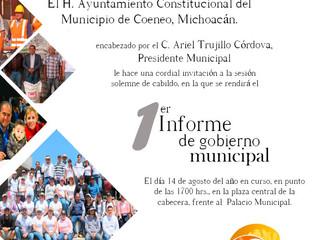 El Alcalde Ariel Trujillo Córdova invita a su Primer Informe de Gobierno