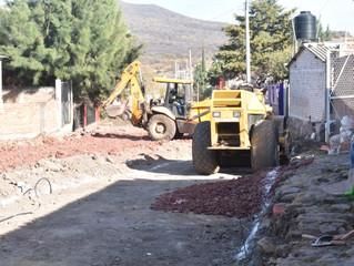 Ayuntamiento de Puruándiro continúa con el mejoramiento de la calle Venustiano Carranza