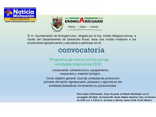 Aperturan ventanillas de concurrencia 2018 en el municipio de Erongarícuaro