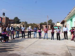 Presidenta de Puruándiro Inaugura  pavimentación en la comunidad Emiliano Zapata