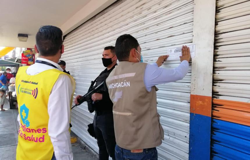 Guardianes de la Salud suspenden tres establecimientos en Zamora