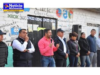 "Continúan trabajos de ""Barrio Seguro"" en Pátzcuaro"