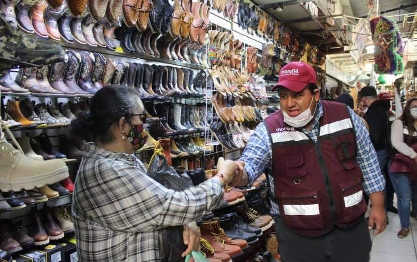 """""""Mercado Morelos"""" de Zacapu recibe con entusiasmo visita de Juan Pablo"""