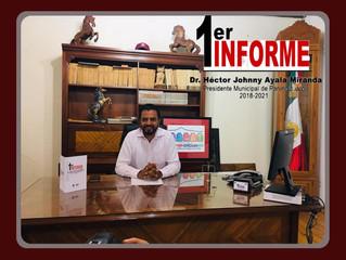 Rendira su Primer Informe de Gobierno el presidente Héctor Johnny Ayala Miranda el 13 de agosto