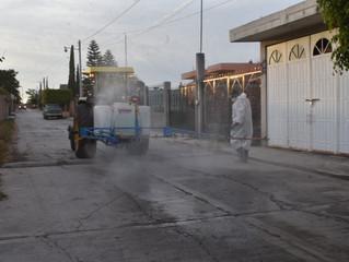 Ayuntamiento de Puruándiro continúa con la sanitizacion de espacios públicos