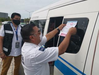 Sensibilizan a choferes del transporte público de LC contra el COVID-19