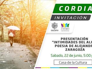 Ayuntamiento de Zacapu invita a disfrutar de la Poesía Intimidades del Alma Poesía