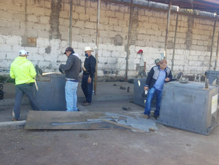 Ayuntamiento Puruándiro Realiza Reparación de Contenedores de Basura