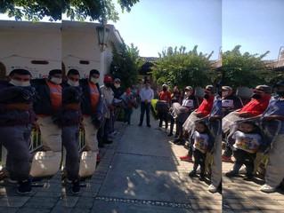 DIF Puruándiro hace entrega de cobijas, colchones, medicamentos y despensas