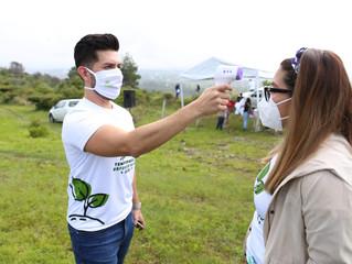 Reforestan medios de  comunicación Cerro Verde de Morelia, por segundo año consecutivo