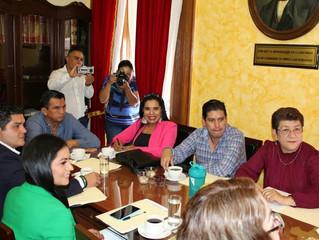 Se reunió Wilma Zavala con integrantes de la Junta de Coordinación Política