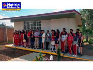 Inaugura edil de aula en el COBAEM plantel Quiroga