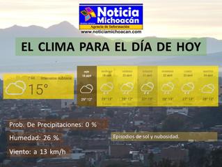 Clima para Zacapu y la Región, Episodios de sol y nubosidad