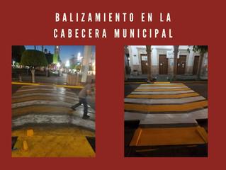Ayuntamiento Puruándiro Llevo a Cabo el Balizamiento a Calles del Municipio