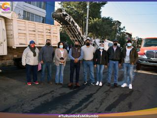 Ariel Trujillo inicia pavimentación de la avenida Morelos sur en Coeneo