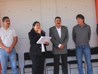 La Alcaldesa Belinda Iturbide realizó entrega de sanitarios en el plantel CECyTEM 04