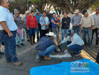 Ayuntamiento de Panindícuaro gestiono la entrega de Sales minerales para Ganaderos y porcicultores d