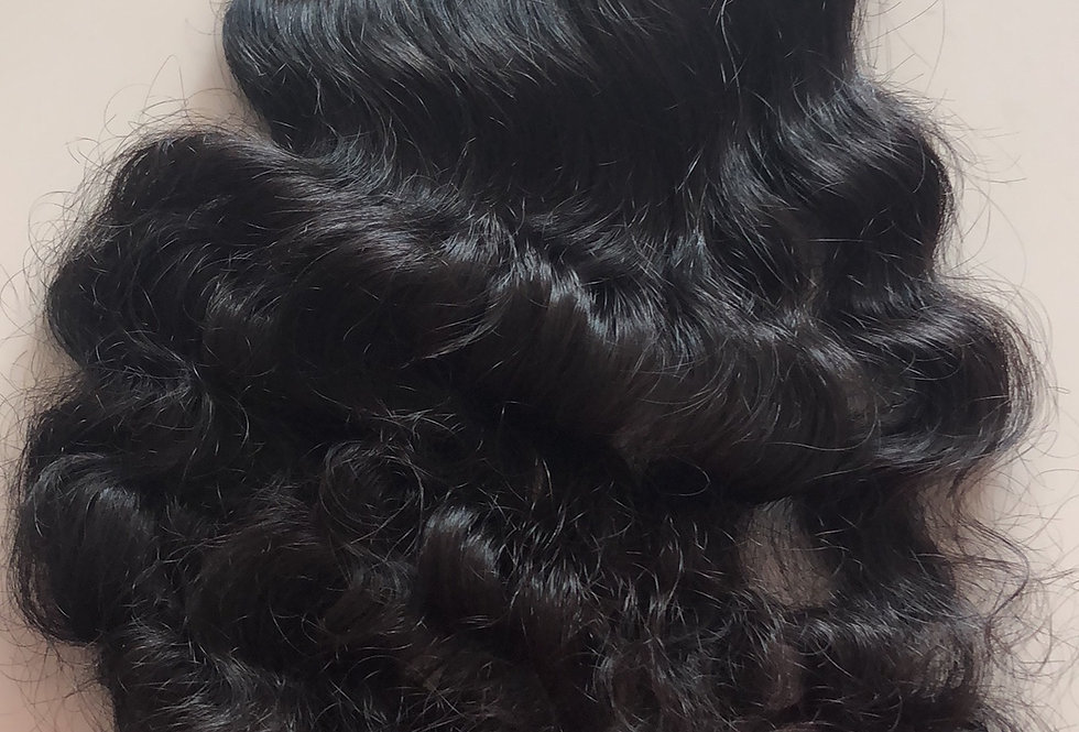 Organic wavy curly closure 4*4