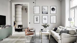 prints-on-wall-textured-rug-gray-room-id