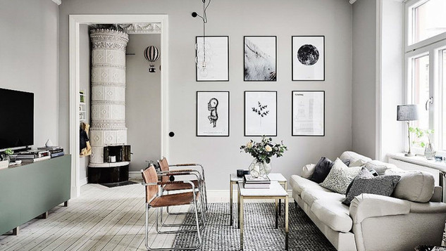 prints-on-wall-textured-rug-gray-room-id