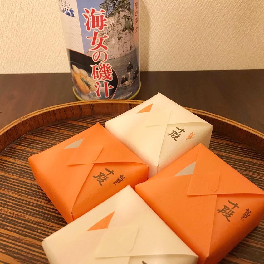 ご家族揃って久慈に帰省されていたT.M.さんからのお土産。 初めての『海女の磯汁』も楽しみです。 ありがとうございます!