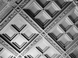 Geometric Ceiling In Black And White