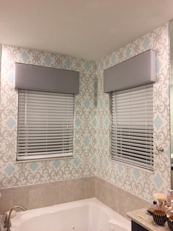 Custom Cornice and Wallpaper