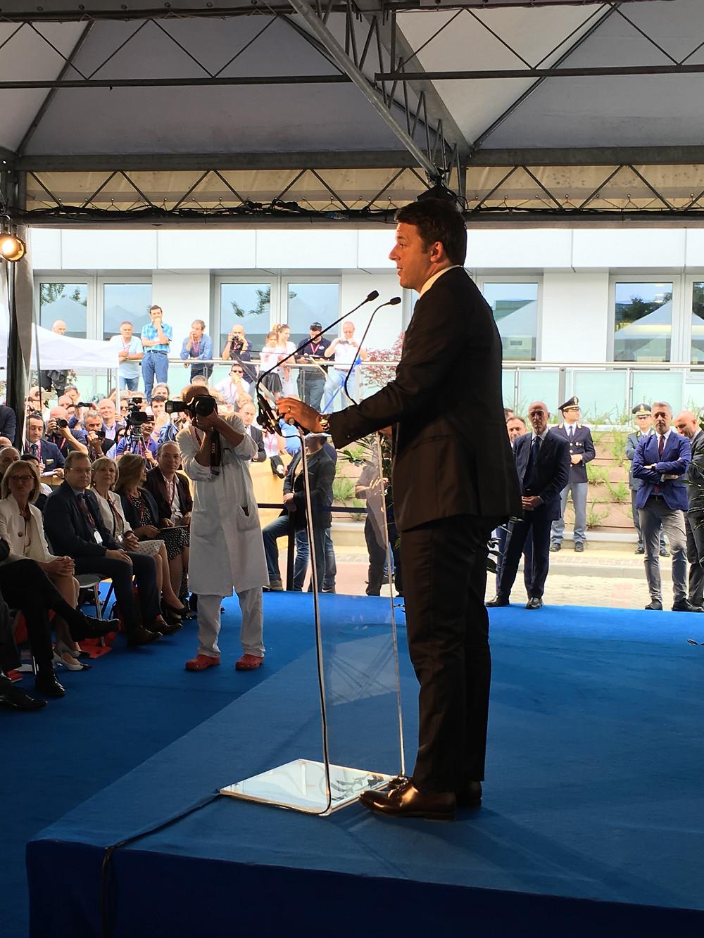 Inaugurazione CORE - Matteo Renzi - Presidente del Consiglio