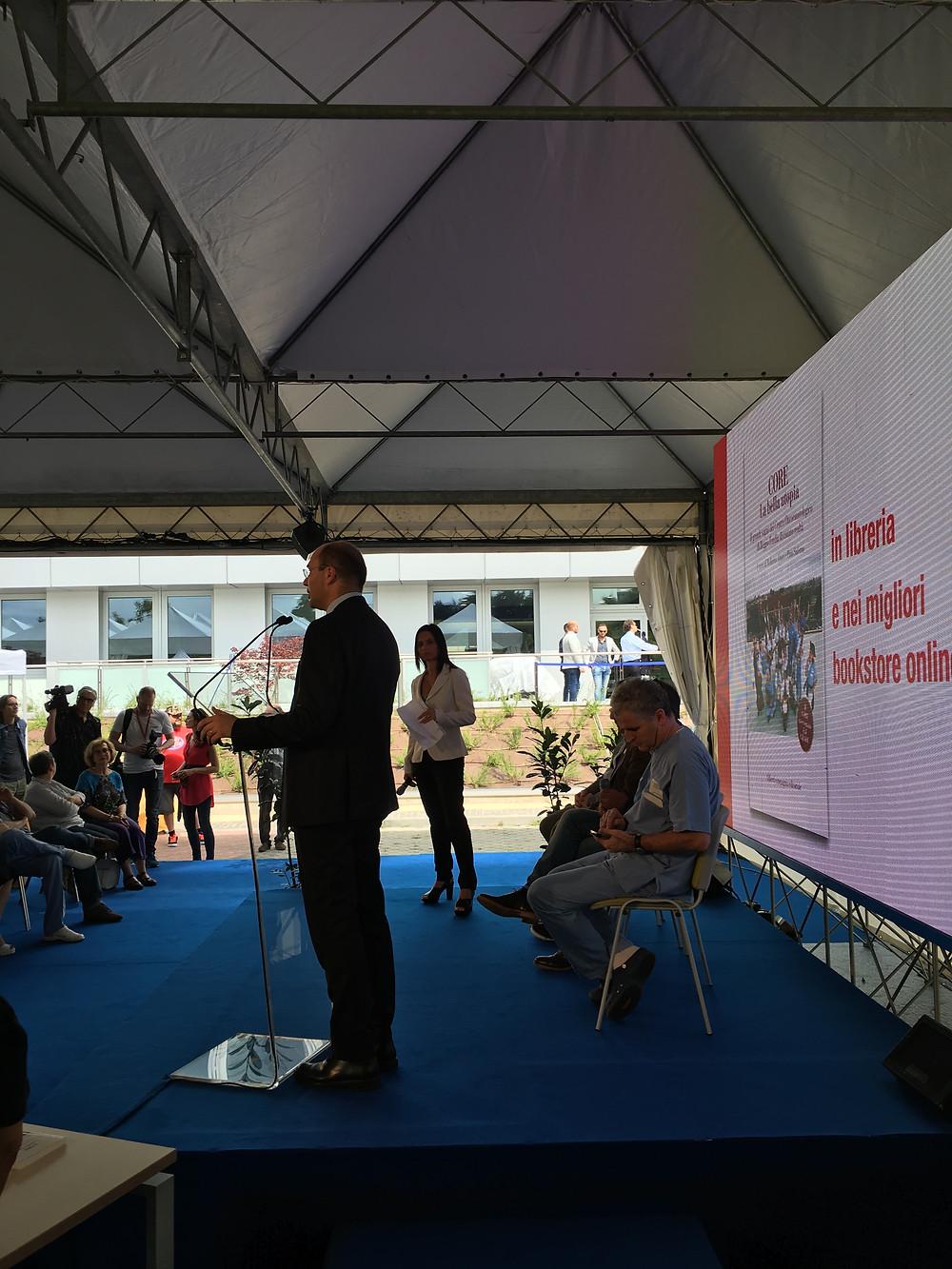Inaugurazione CORE - Luca Vecchi - Sindaco di Reggio Emilia