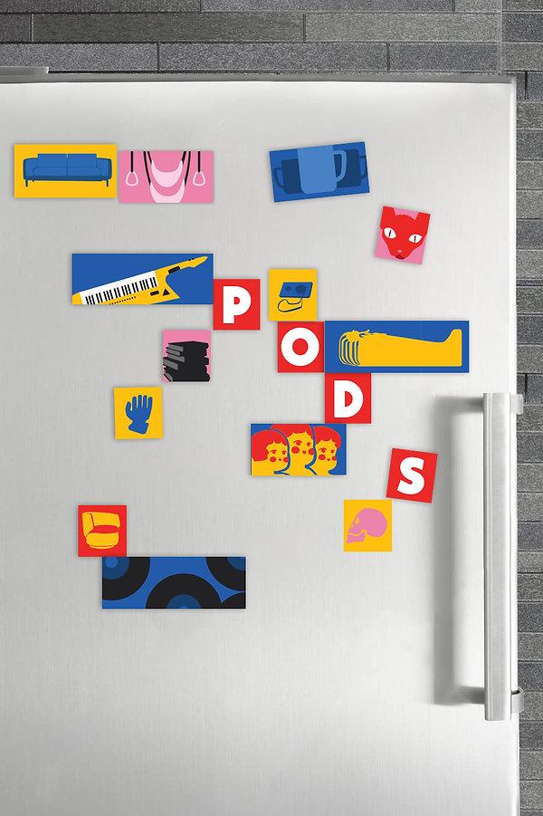 PODS Campaign Ellen McMahon Copywriting PODS Moving & Storage Refrigerator Magnets