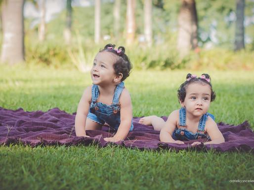 Fotografia de bebê em Curitiba | Smash The Cake | Paola e Sophia, 1 ano