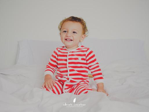 Manhã de Natal do Benjamin - 1 ano e 1 mês