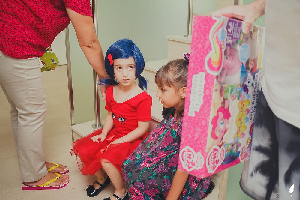 peruca azul Ladybug