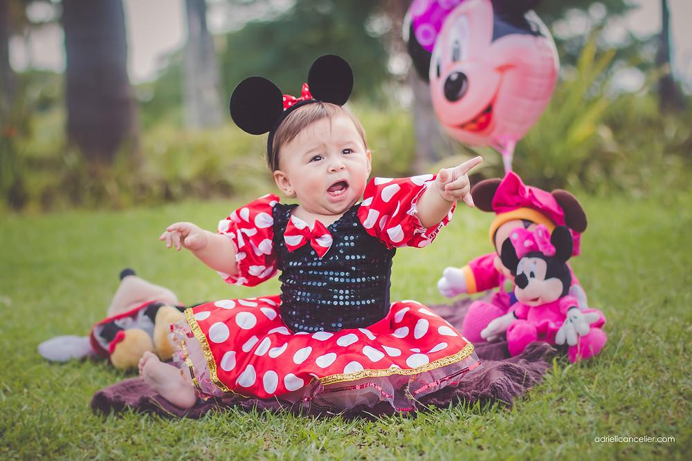 ensaio fotográfico de bebê minnie em curitiba