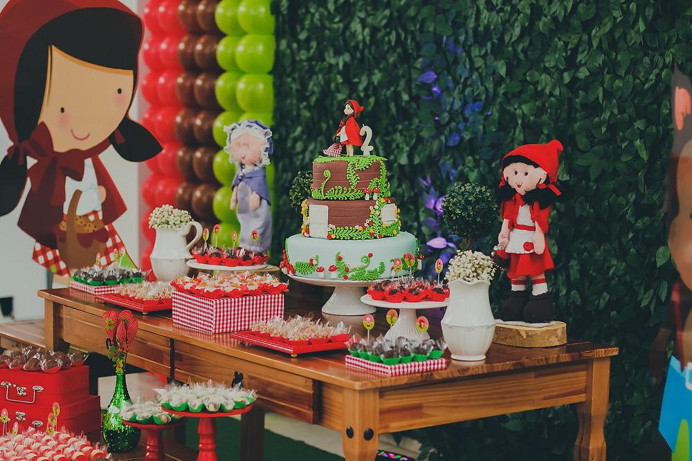 tema decoração de festa chapeuzinho vermelho