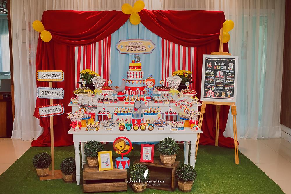 decoração de circo festa infantil, um amor de papel