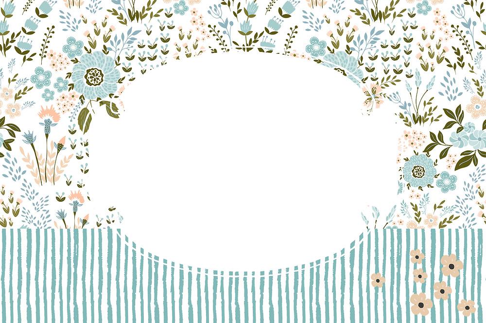 convite de aniversario jardim azul para editar e imprimir gratis