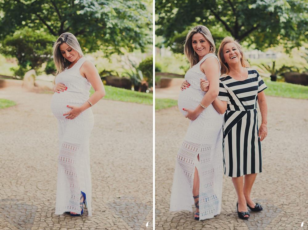 fotos de gestante com a mãe