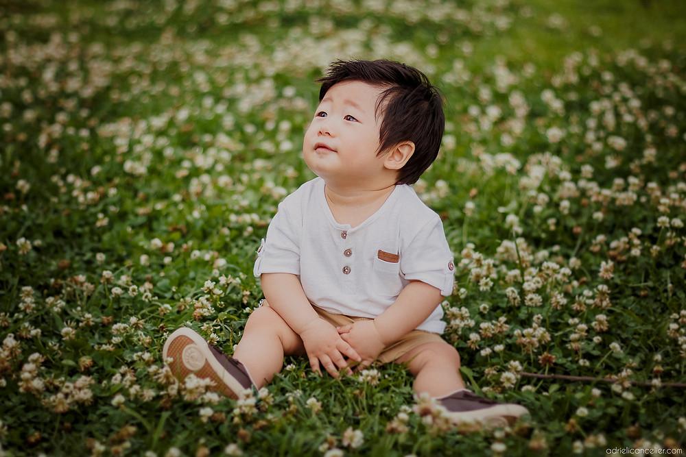 book de bebê japonês em Curitiba no Jardim Botânico pela fotógrafa Adrieli Cancelier
