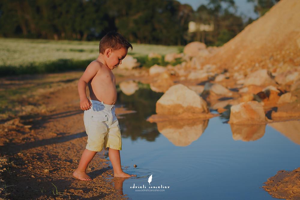 fotografia infantil curitiba, água