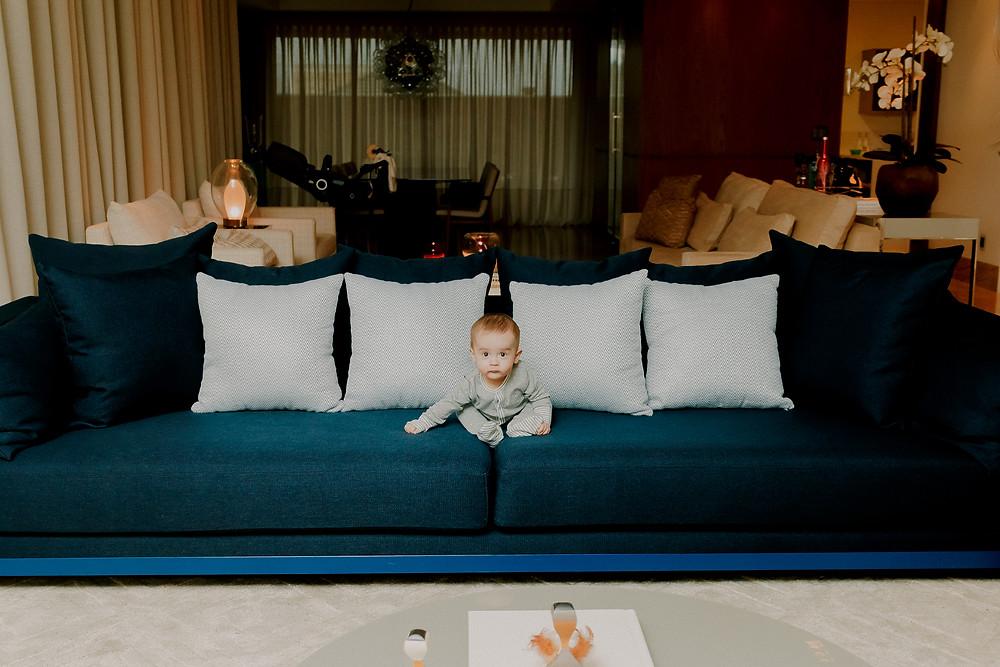 ensaio fotografico de bebe em casa
