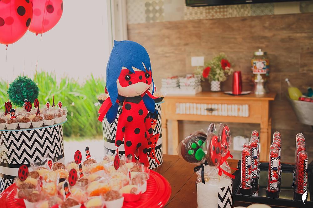 festa infantil em Curitiba, 5 anos da Maria Antônia, decoração da Ladybug, alphaville graciosa, Adrieli Cancelier