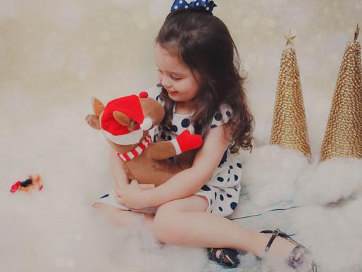 Ensaio de Natal da Estella   3 anos