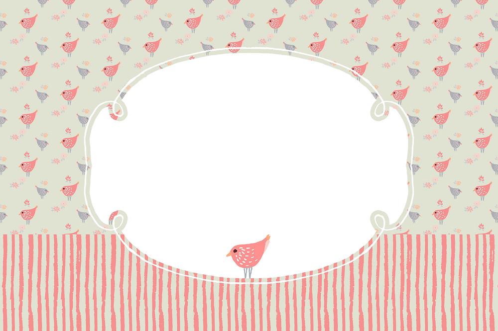 convite de aniversario pássaros rosa para editar e imprimir gratis