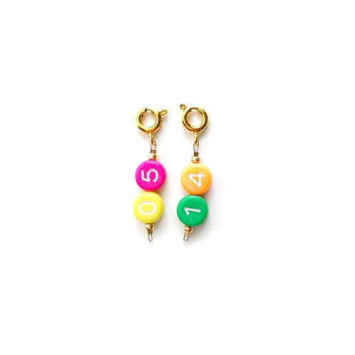 Numbers Key Chain Charms
