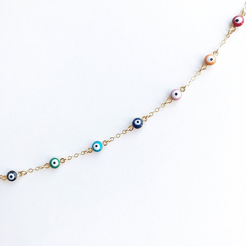 Evil Eye Multi-Color Bracelet