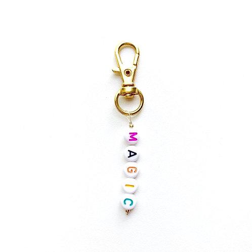Word Key Chain Charm