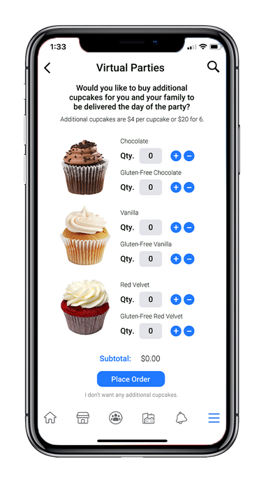 Select your cupcake(s)