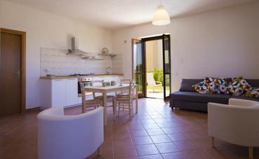 Cucina vista Erice Stagnone Holiday Apartment